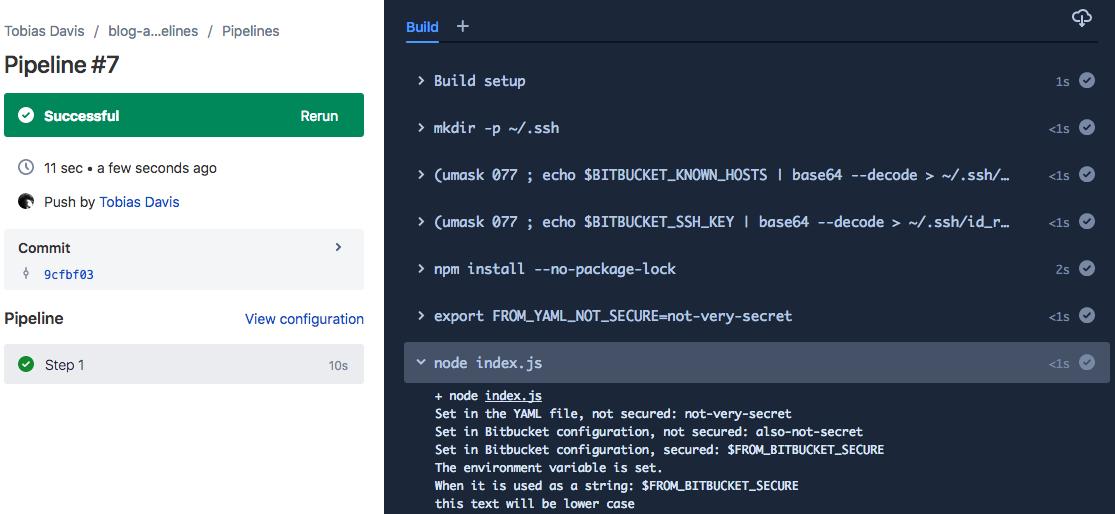 Advanced features in Bitbucket Pipelines